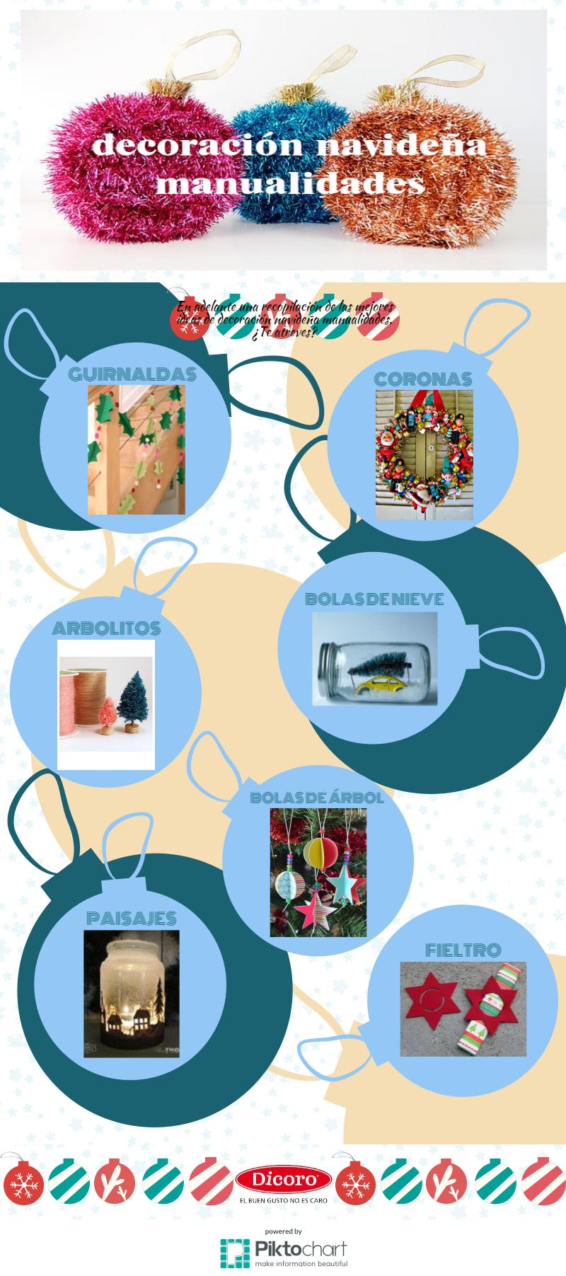 Decoración Navideña Manualidades - Infografia Dicoro