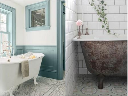 decoracion de bañeras vintage