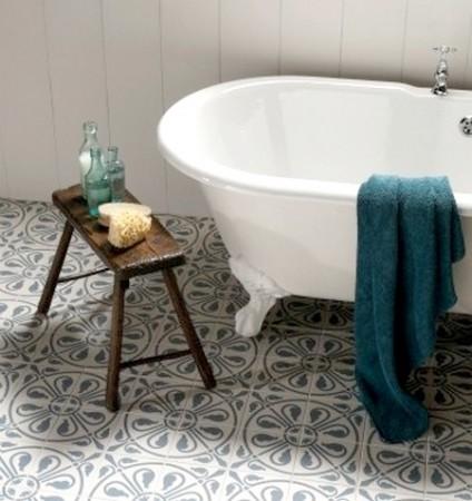 decoración baños vintage