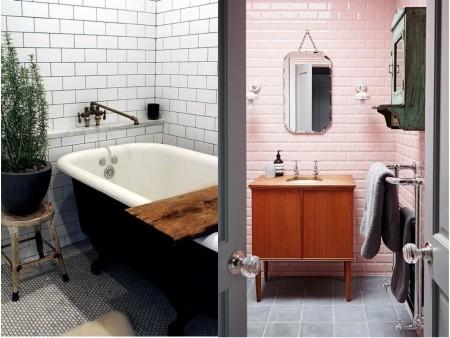 decoración vintage baños