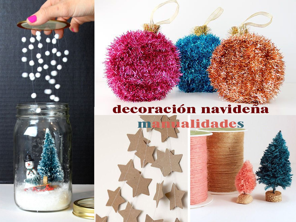 Decoraci n navide a manualidades for Decoracion navidena hogar