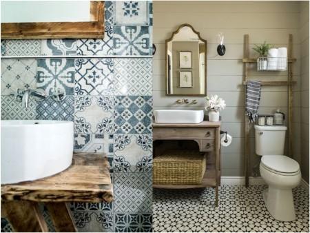 decoración de lavabos vintage