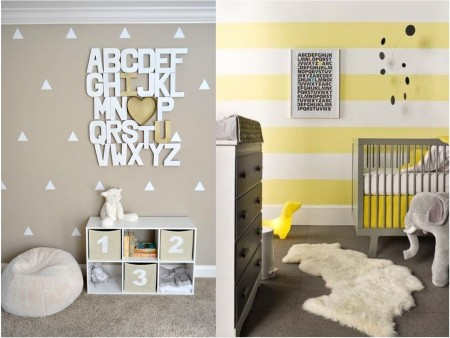colores para la decoración de una habitación de bebé