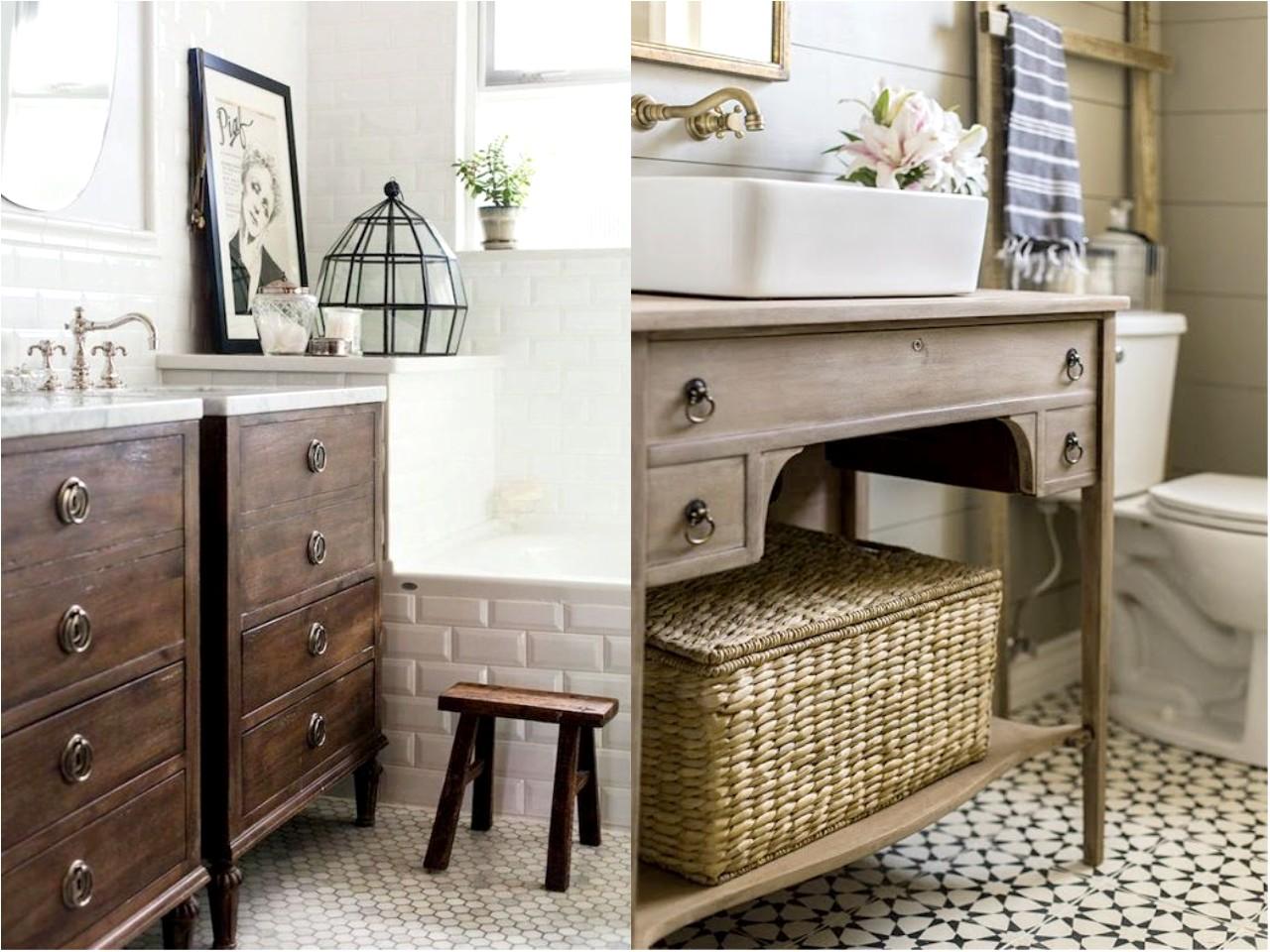 Ap ntate a la preciosa decoraci n de ba os vintage for Pintar un mueble de blanco