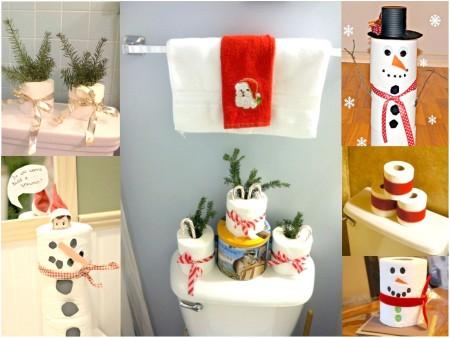 papel para el lavabo navideño