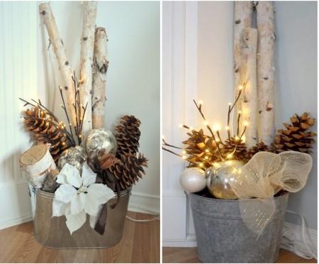 Decoración navideña para baños