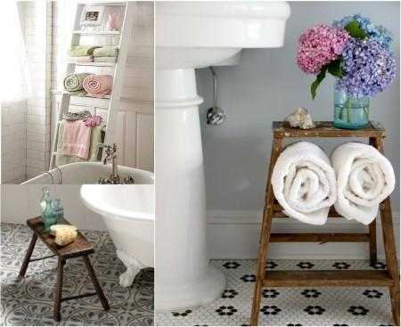 decoración de baños vintage