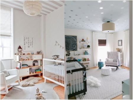 como decorar el techo de una habitacion de bebe