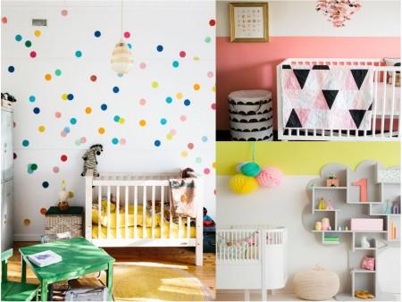 habitacion de bebe con topos