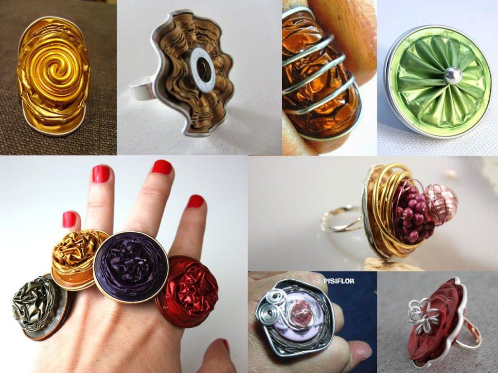 anillos con cápsulas de café nespresso