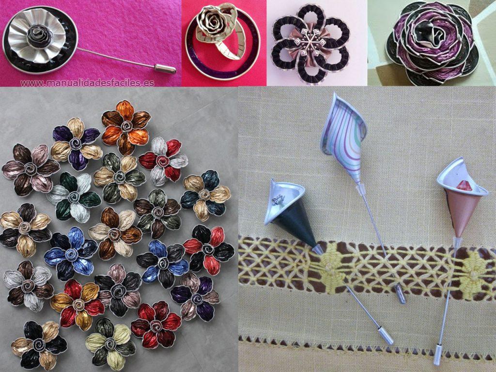 joyas de flores con cápsulas de café