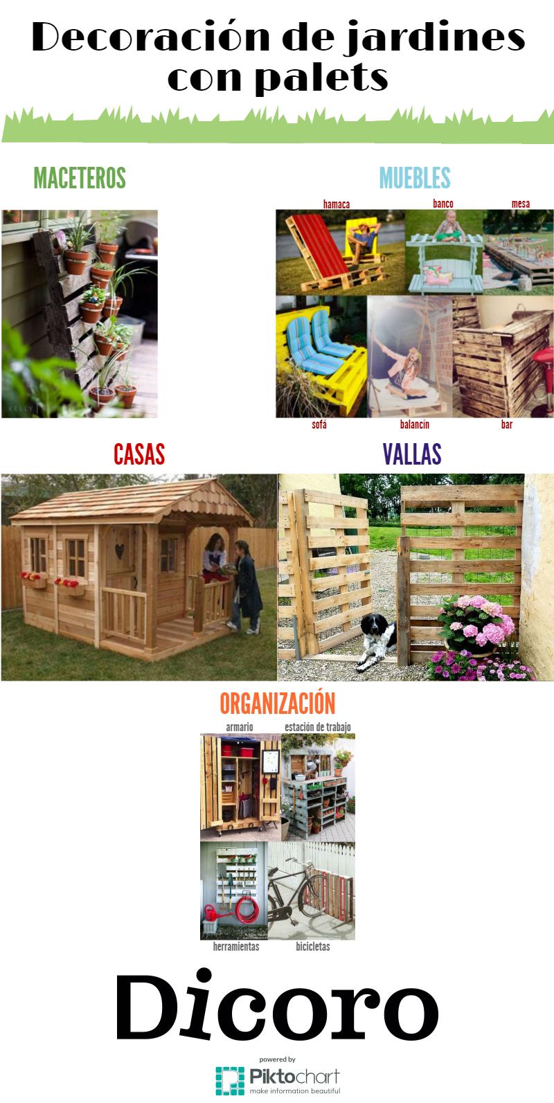 Ideas para la decoraci n de jardines con palets for Bar de madera persa bio bio