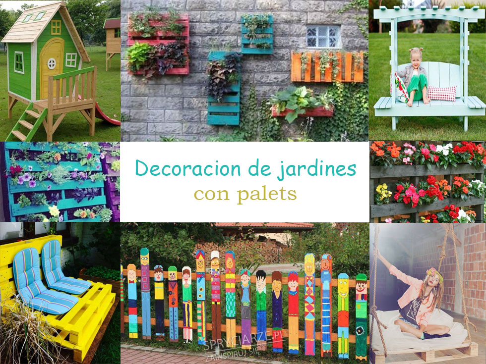 Ideas para la decoraci n de jardines con palets for Decoracion con plantas crasas