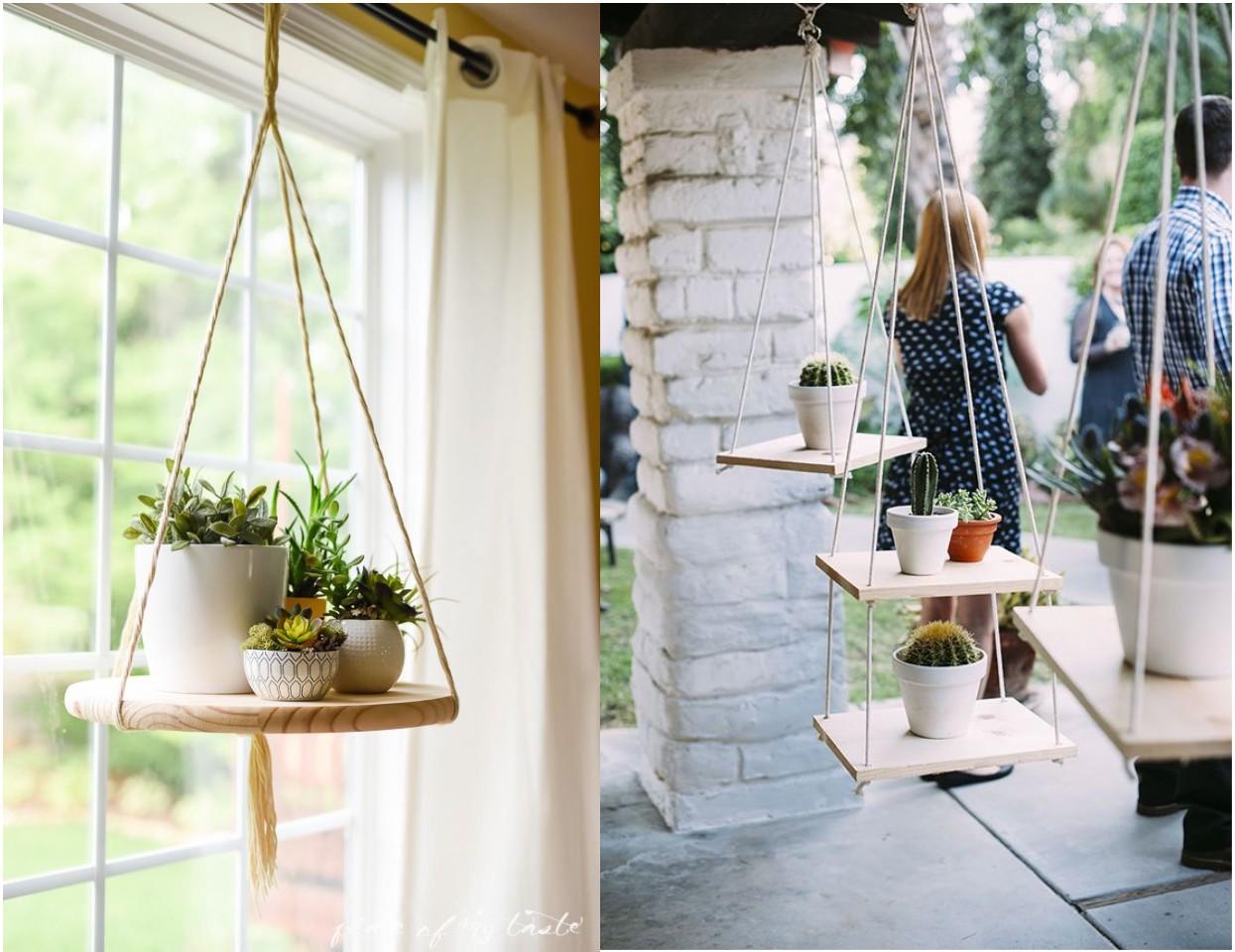 10 ideas de decoraci n con plantas colgantes for Estantes para plantas exteriores