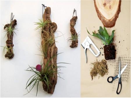 jardines verticales con madera