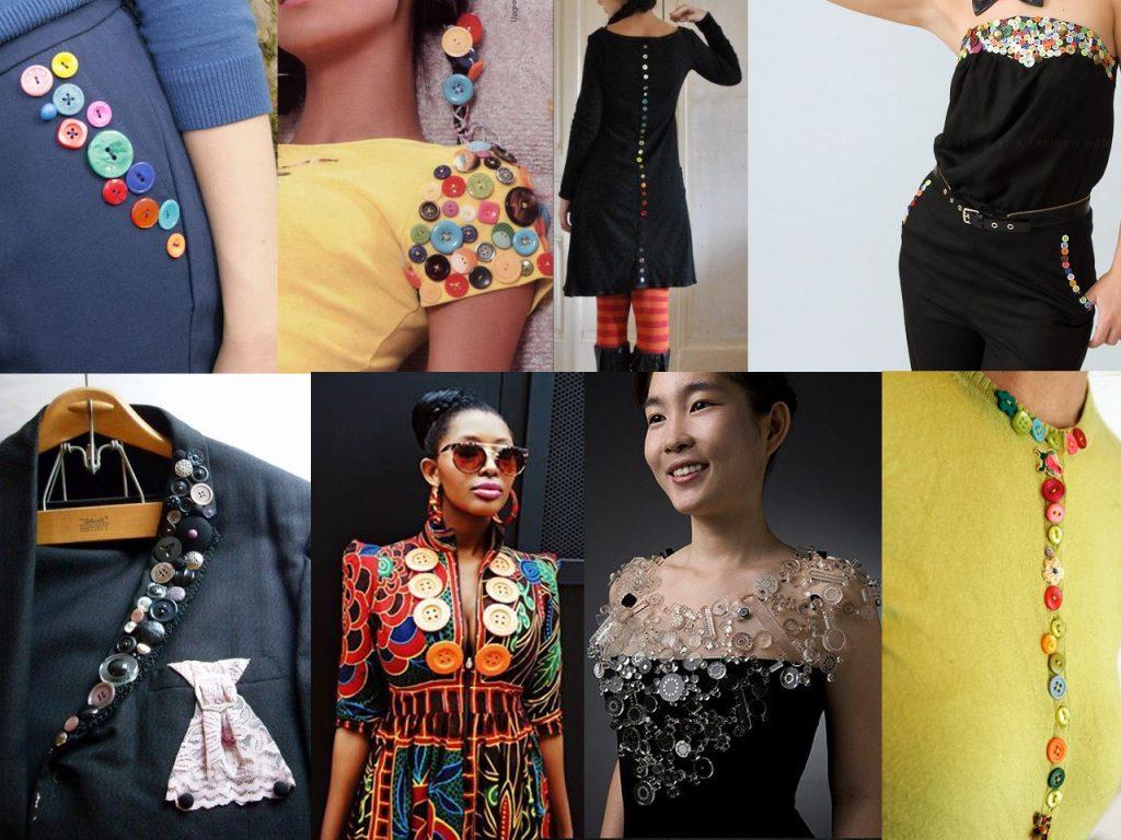 decorar ropa con botones de colores