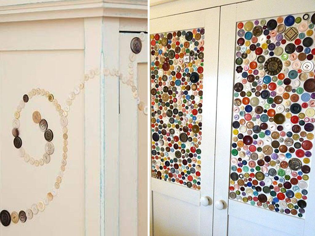 decorar puertas con botones