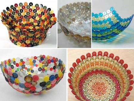 bols hechos con botones