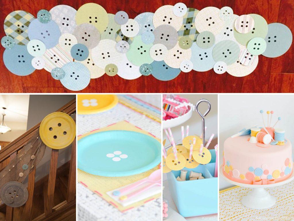 decoración con botones para fiestas