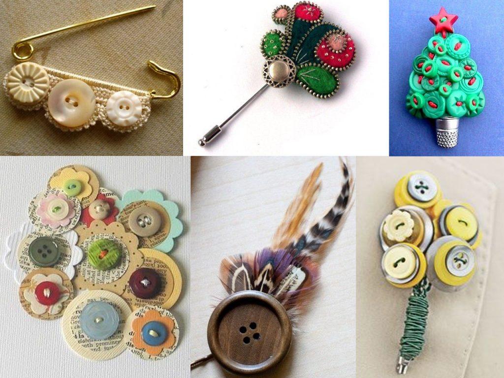 hacer broches con botones de colores