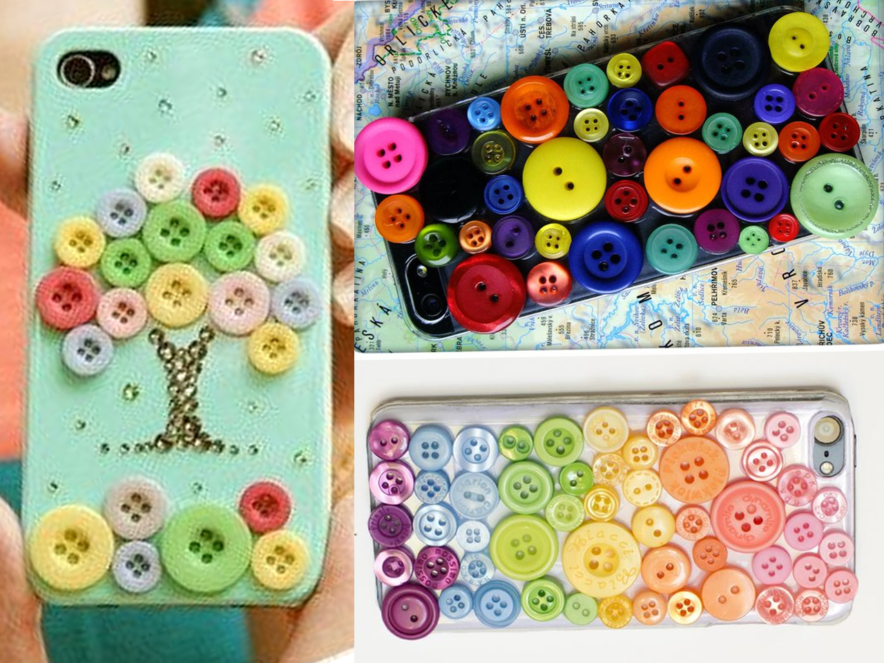 Más De 150 Manualidades Con Botones De Colores