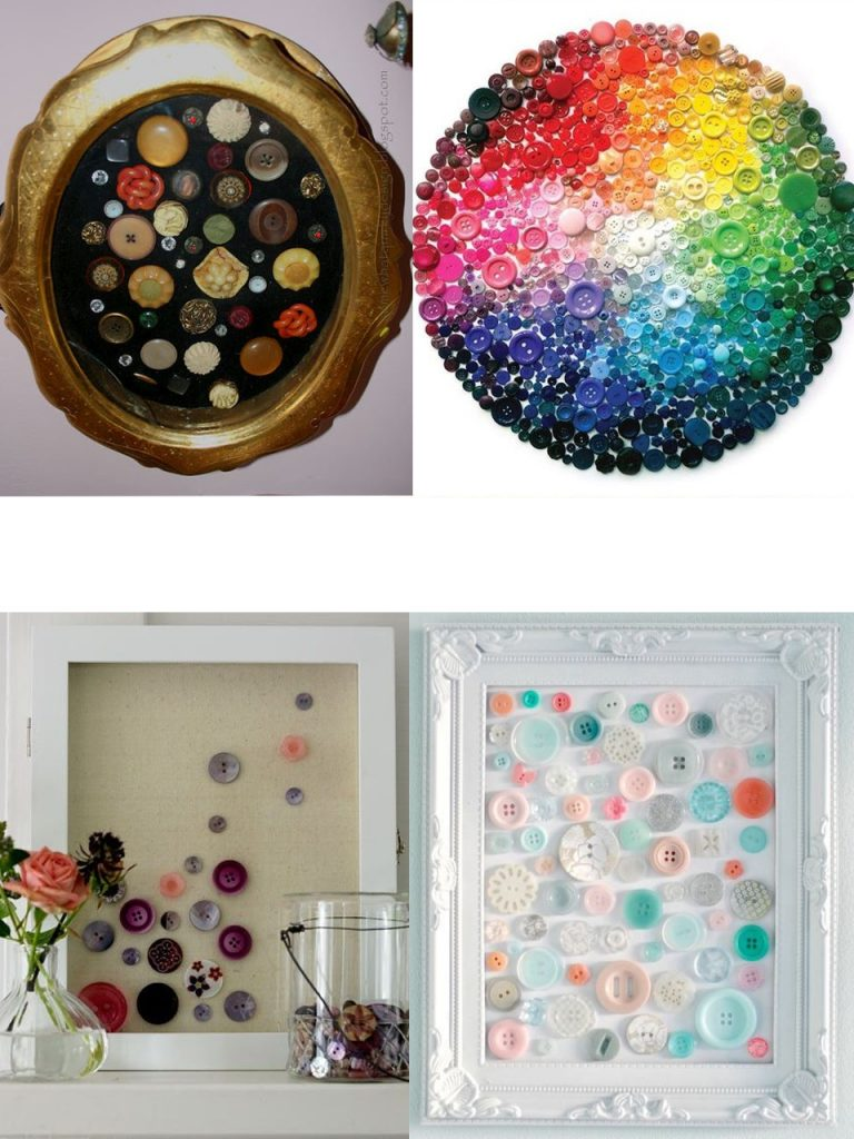 cuadros abstractos con botones