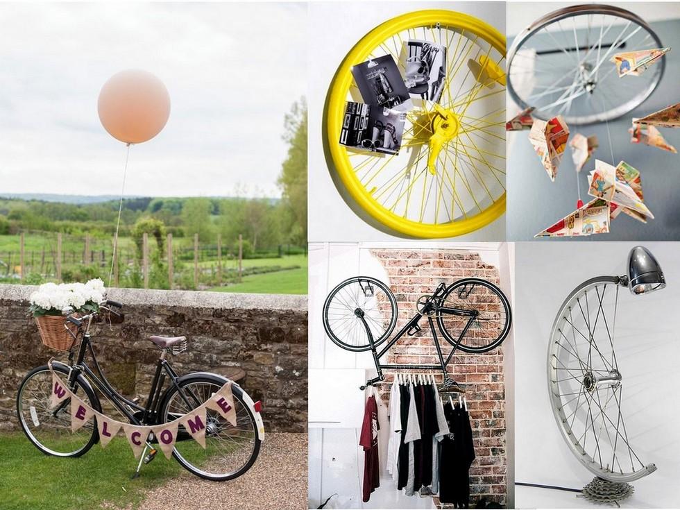 7 originales ideas para reciclar bicicletas for Adornos para plantas con llantas
