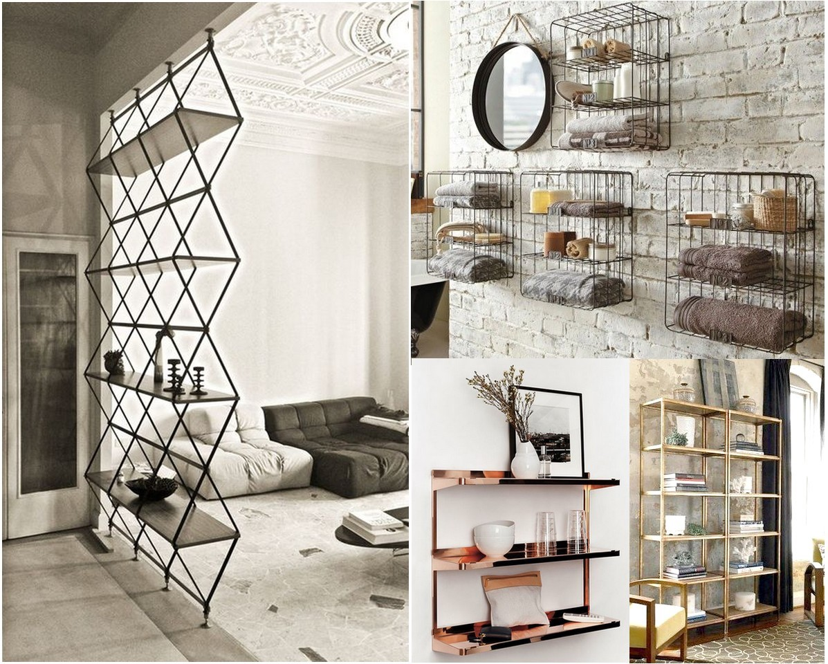 Tendencias 2016 2017 decorar con metal - Estanterias de metal ...
