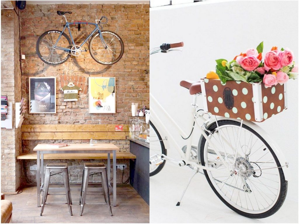 7 originales ideas para reciclar bicicletas for Ideas para decorar tu hogar reciclando