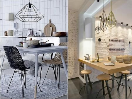decorar con lamparas de metal