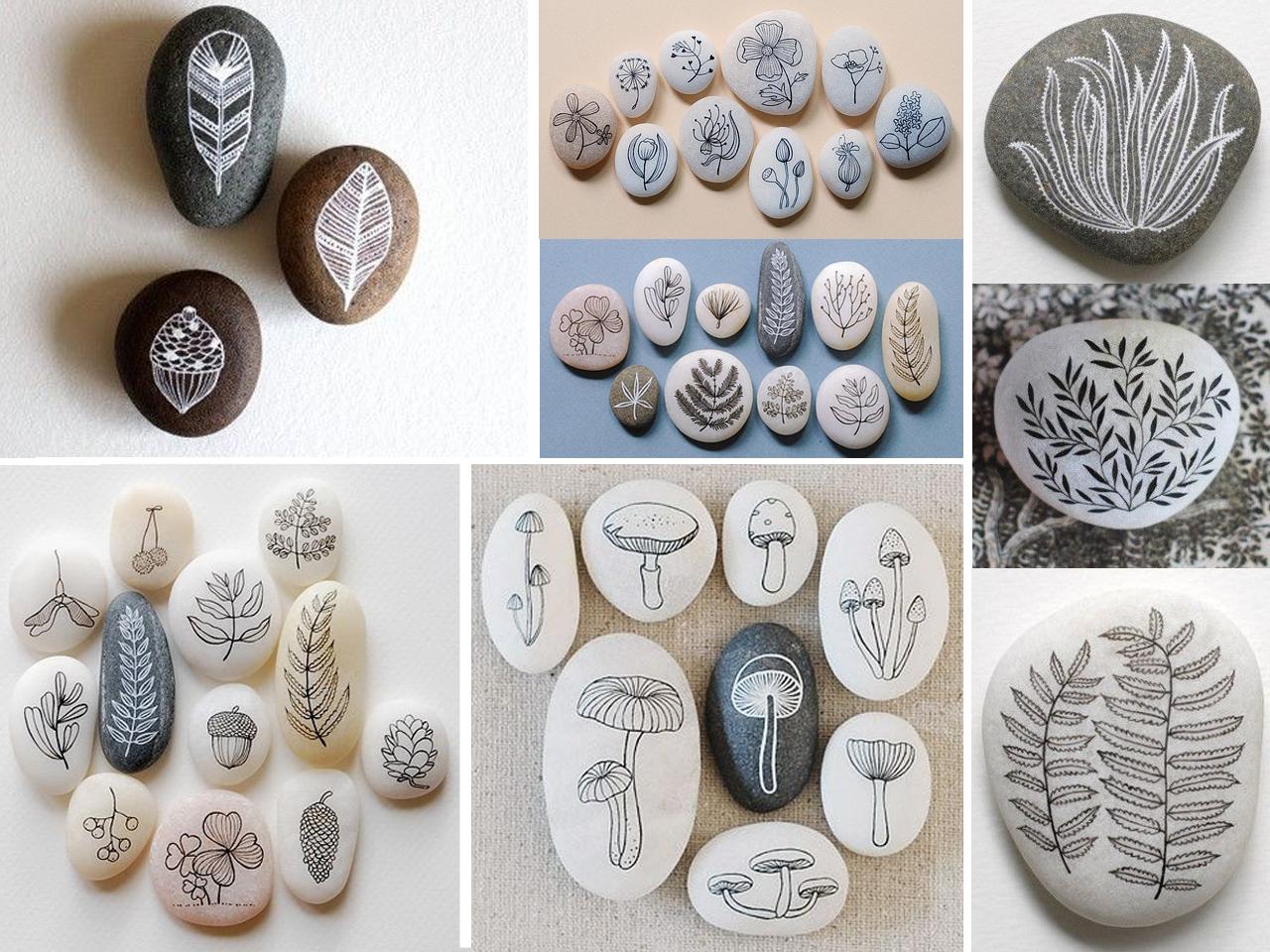 Las m s incre bles manualidades con piedras pintadas - Piedras decorativas de jardin ...
