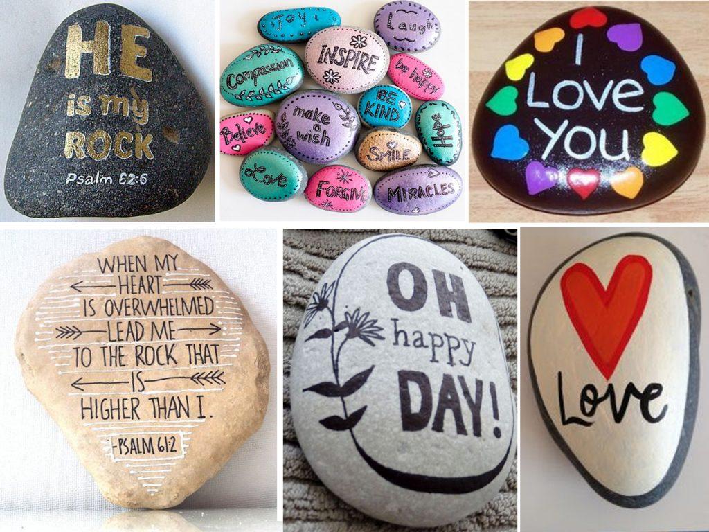 piedras con mensajes