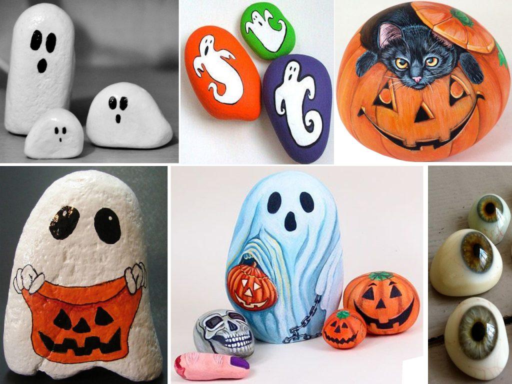piedras pintadas de halloween