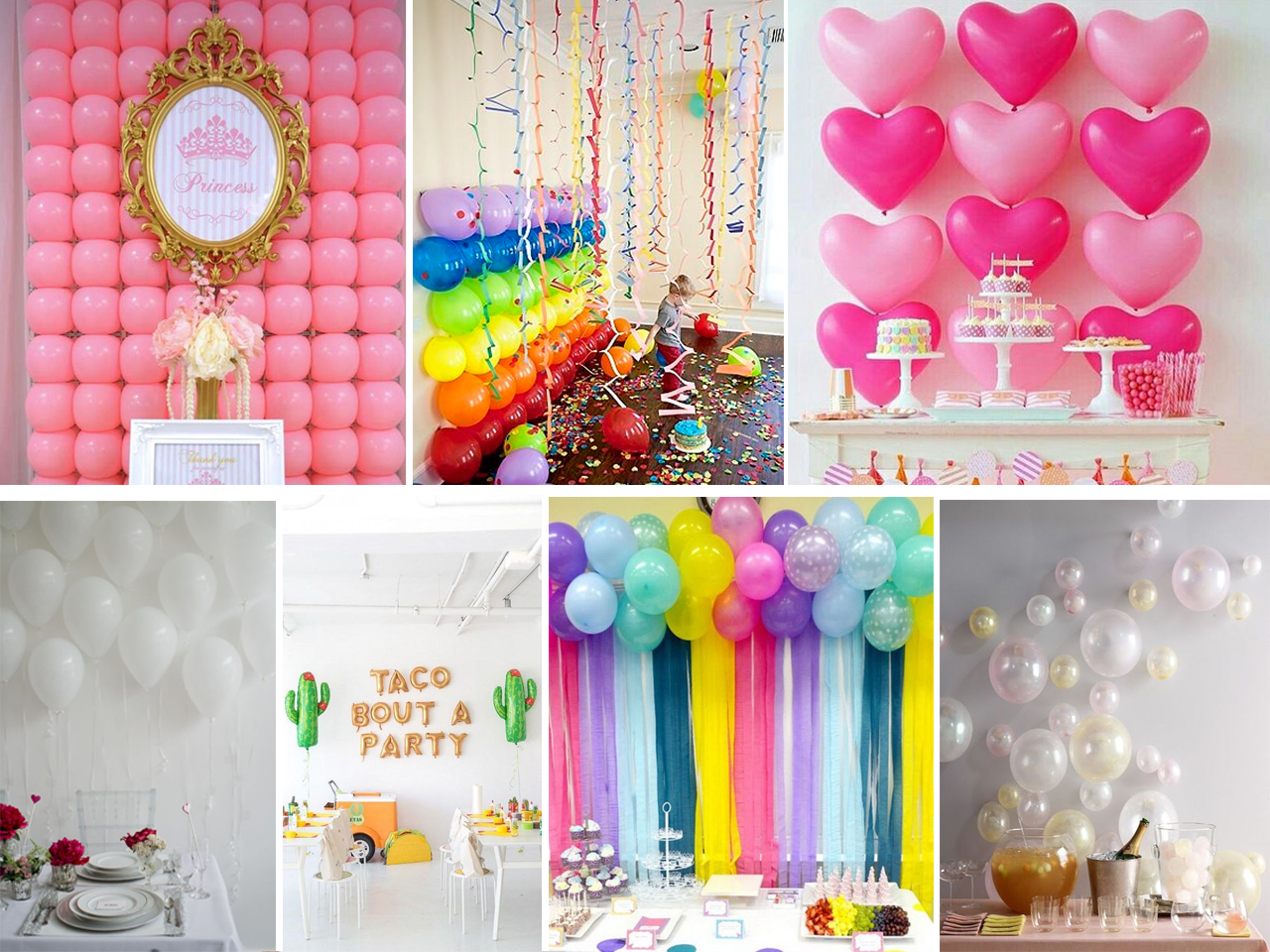 Descubre c mo decorar con globos con estas fant sticas ideas - Decoracion de paredes con fotografias ...