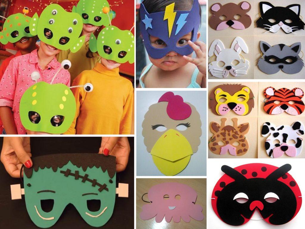 máscaras de goma eva para niños