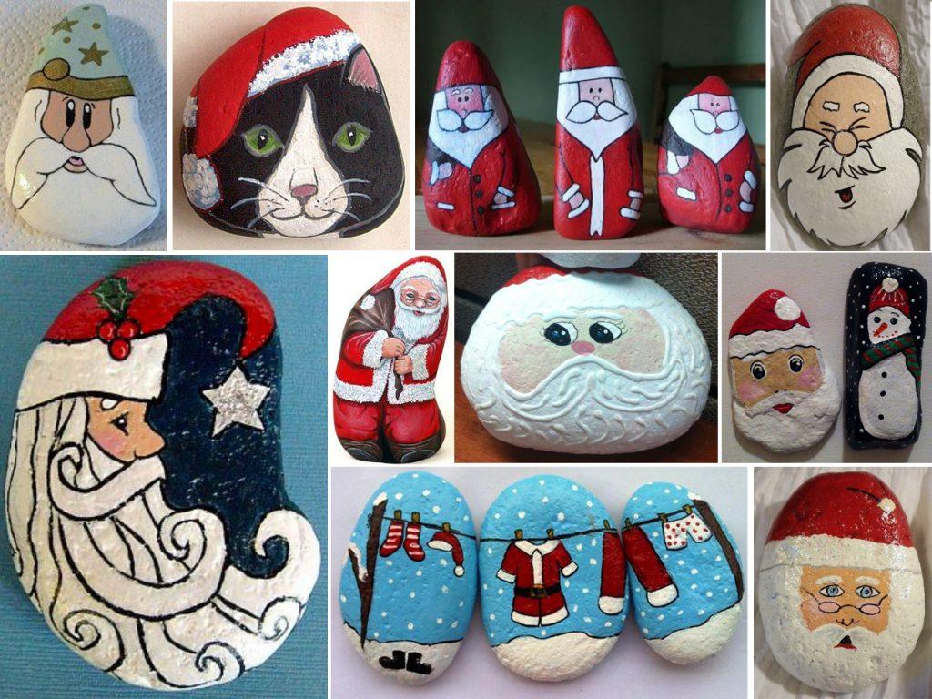 piedras pintadas para navidad