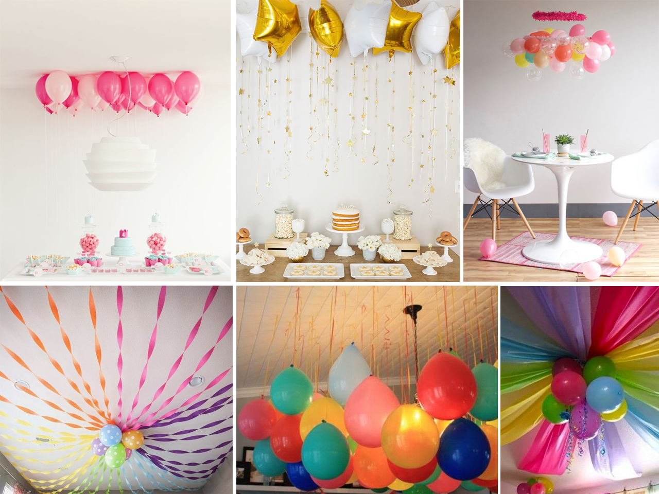 Descubre c mo decorar con globos con estas fant sticas ideas for Como decorar el techo de una recamara