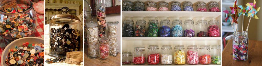 decoración con botones de colores