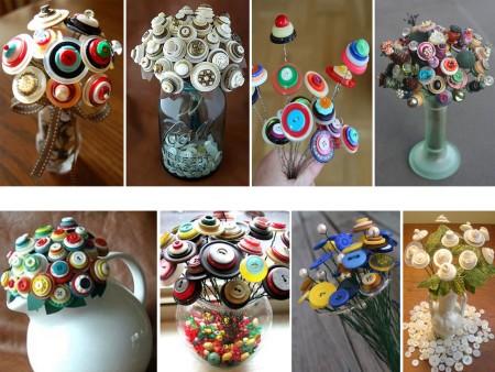 hacer flores con botones