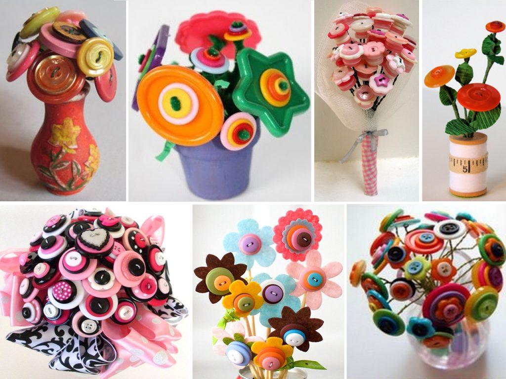 decoración con botones