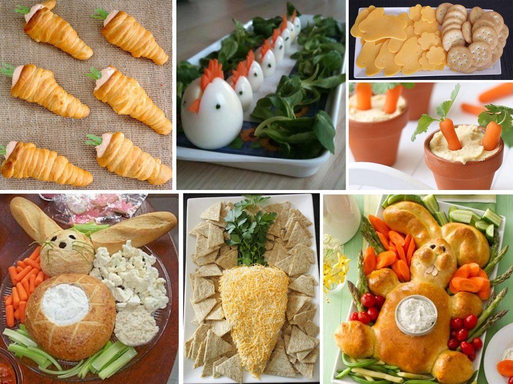 platos de comida para Pascua