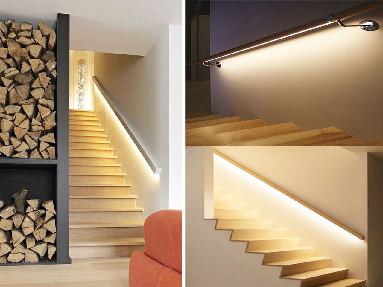 Descubre la decoraci n con luces led y todas sus ventajas - Iluminacion escaleras interiores ...
