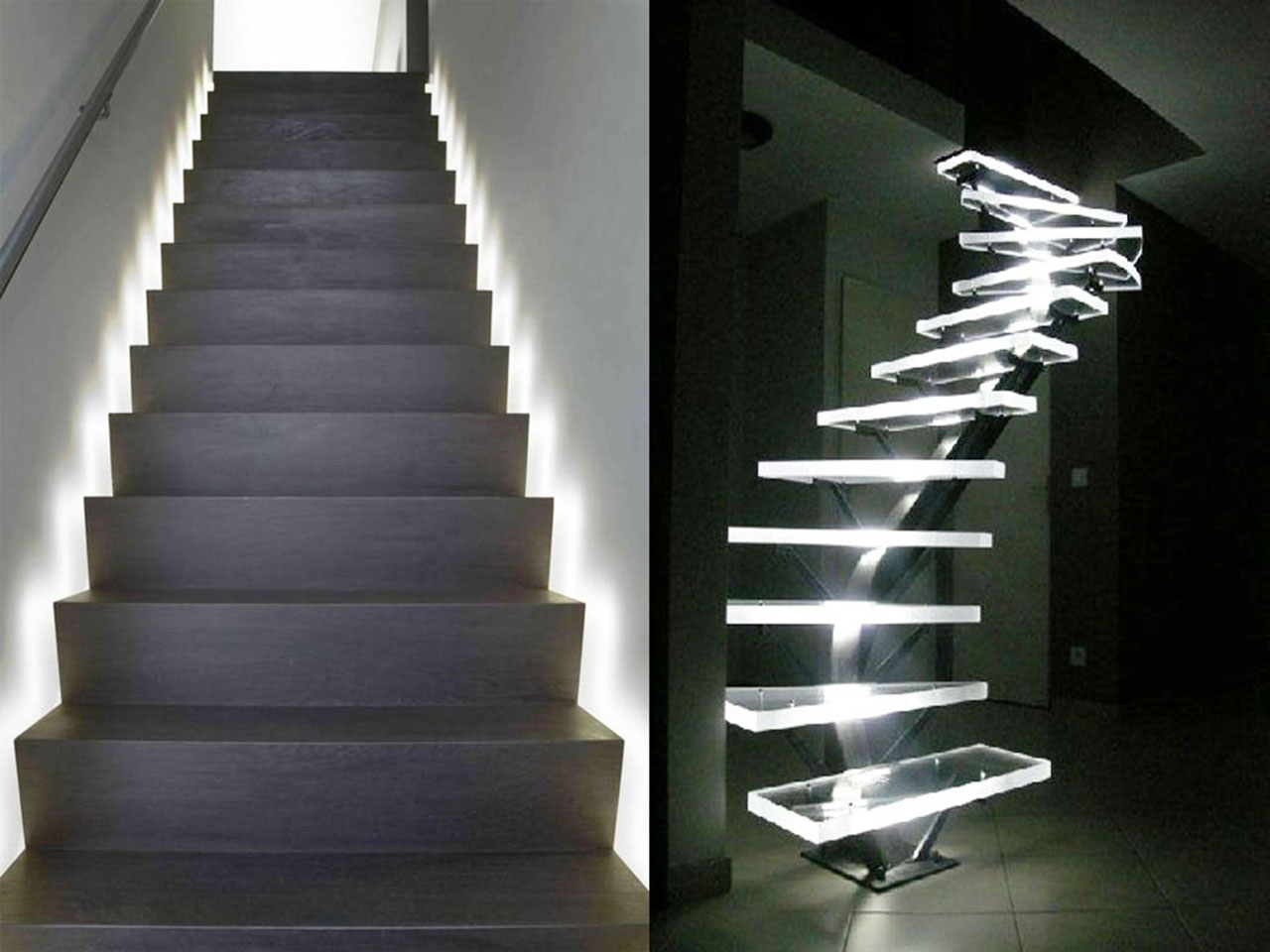 Descubre la decoraci n con luces led y todas sus ventajas - Escaleras con led ...