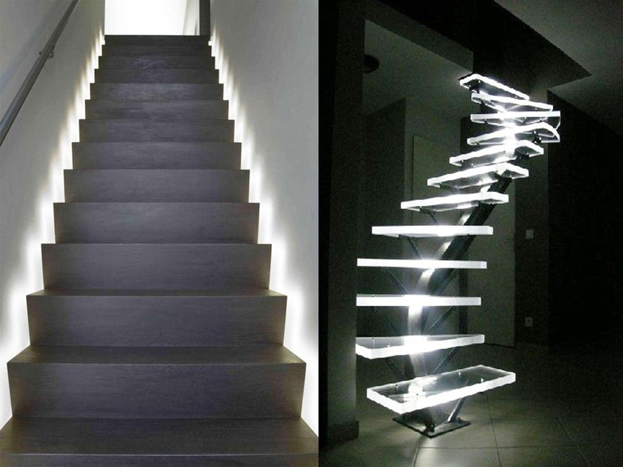 Descubre la decoraci n con luces led y todas sus ventajas - Iluminacion led escaleras ...