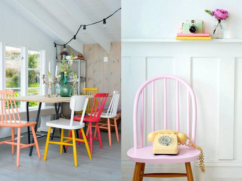pintar sillas de colores