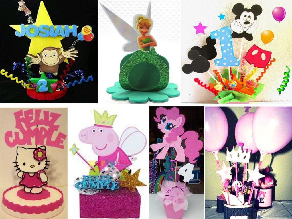 centros de mesa en goma eva para cumpleaños