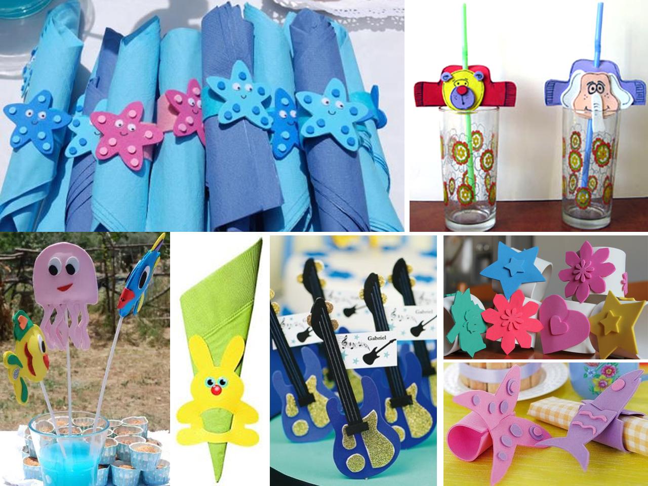 Manualidades en goma eva para cumplea os for Manualidades decoracion infantil