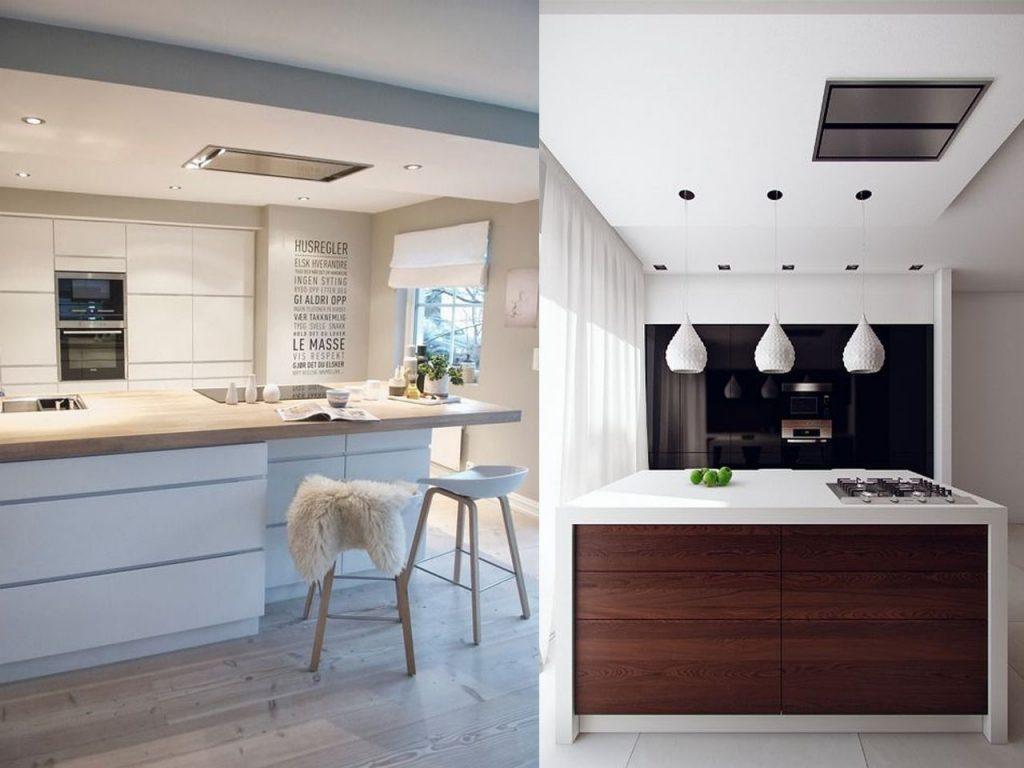Tendencias cocinas 2017 el nuevo centro de tu hogar - Campanas de cocina modernas ...