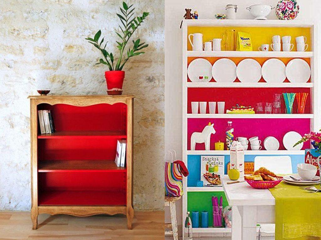 estantería de colores