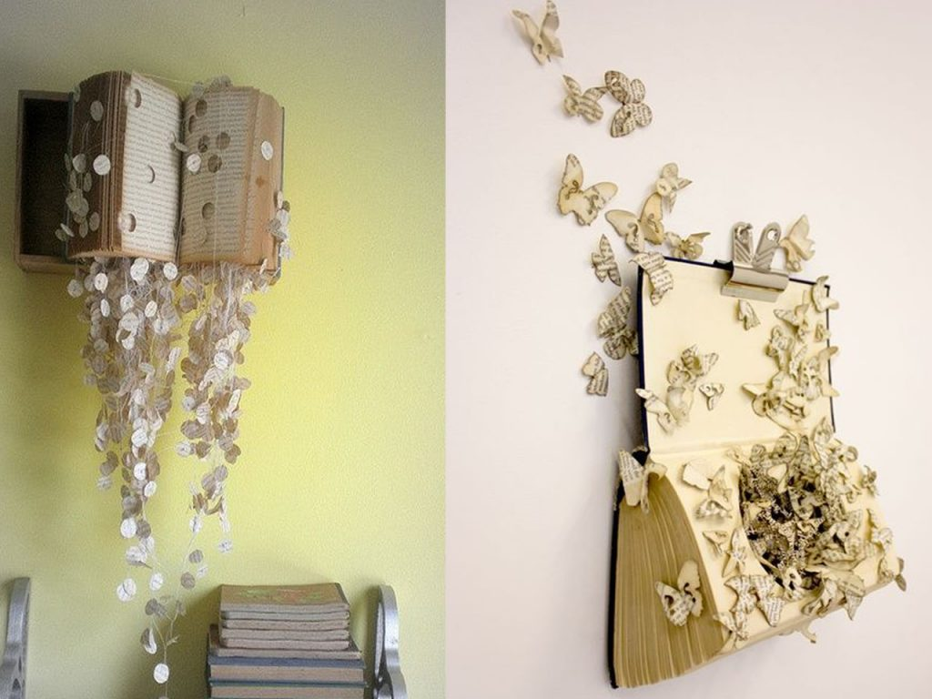 7 ideas originales para decorar con libros - Ideas originales para decorar paredes ...
